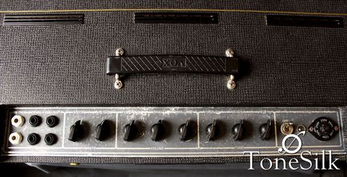Vox AC30 head 1969 controls